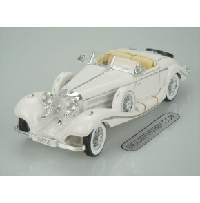 1936 Mercedes-Benz 500 K Type Special Roadster (Premiere Edition) by Maisto 1:18 (White)