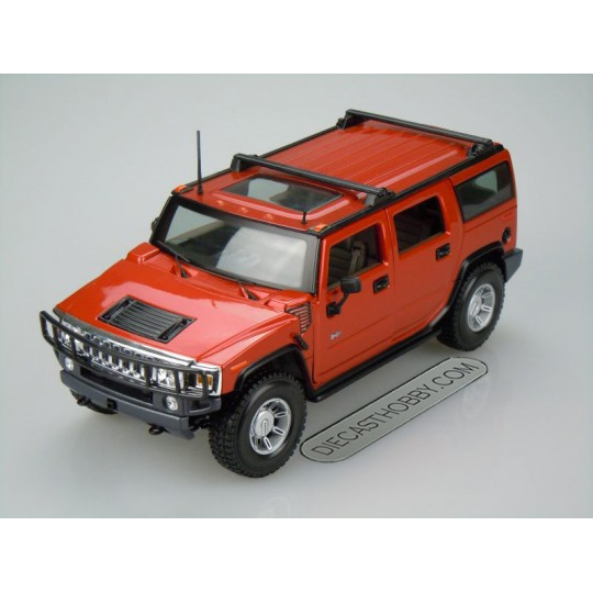 2003 Hummer H2 SUV (Premiere Edition) by Maisto (Red)