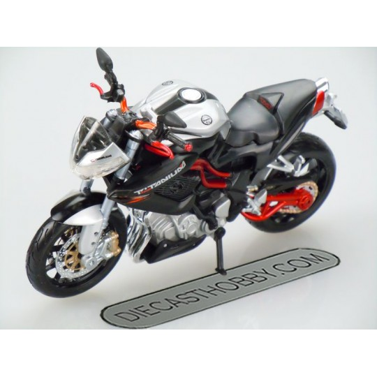 Benelli Tornado Naked Tre Titanium (Special Edition) by Maisto 1:12 (Silver & black)